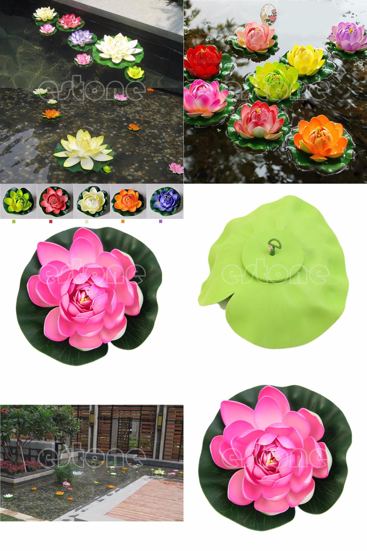 Visit To Buy Floating Lotus Flower Aquatic Fish Tank Ornament