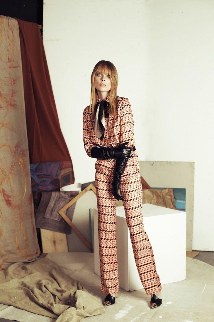 Papillon AW 2016/2017 Printed silk jumpsuit #papillonatelier #fashion #trends #polishbrand #jumpsuit
