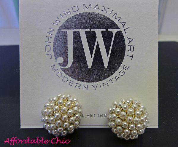 Pearl earrings from John Wind.
