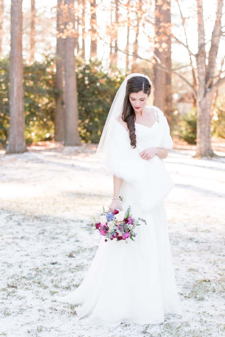 Snowy Winter Garden Wedding in Alabama | Winter garden, Wedding and ...
