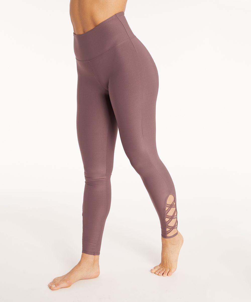 23eb35db2d0a8 Marika Orchid Tummy-Control Criss-Cross High-Waist Leggings - Women | zulily