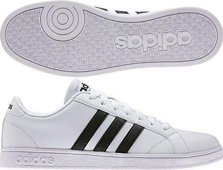 Adidas NEO Men's Baseline Fashion Sneaker, White/Black/White, 11.5 M US