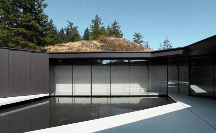 Schwarze Fassade schwarze fassaden platten blick vom innenhof innenhöfe