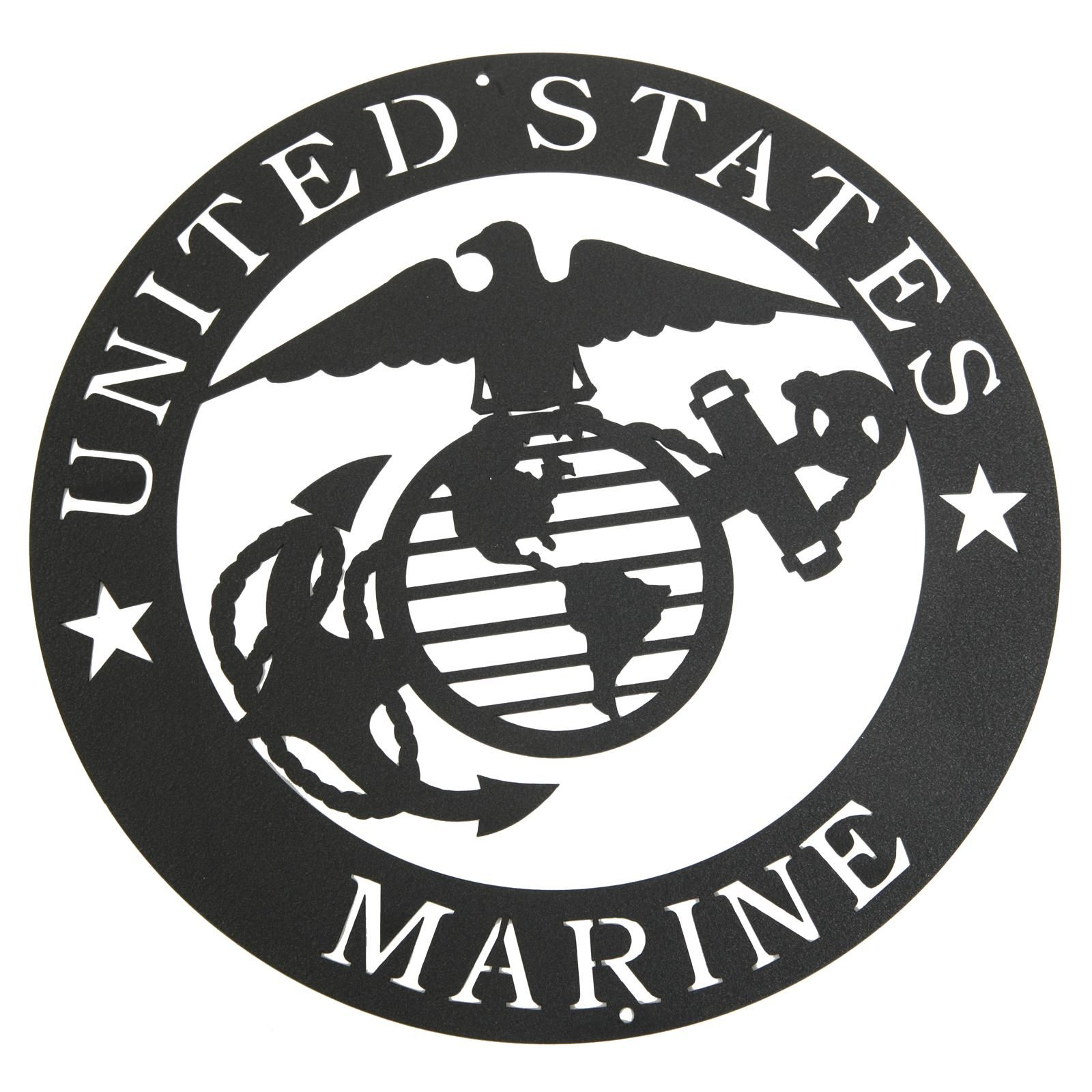Marines Corps Emblem Metal Silhouette Marine Corps Emblem Semper