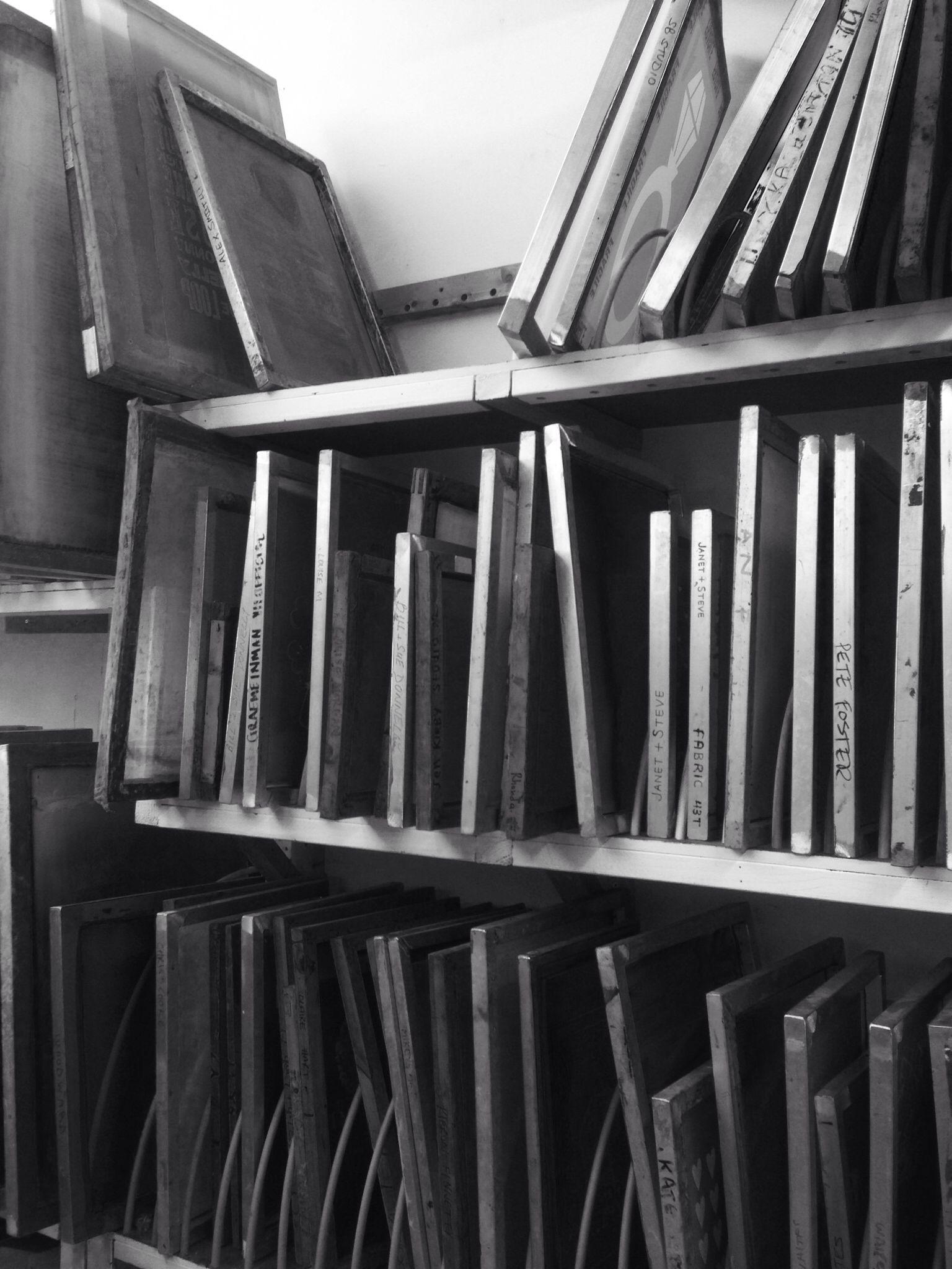 Screen rack @the Bluecoat . #screenprinting