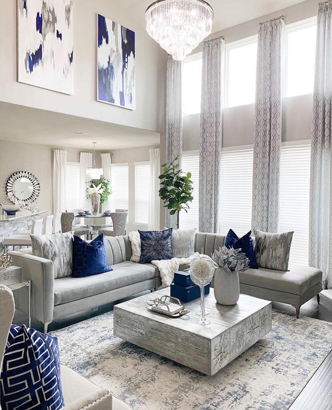 2 364 Likes 41 Comments Chachou Interior Design Decor The Welcoming Home On Instagram Blue Living Room Accents