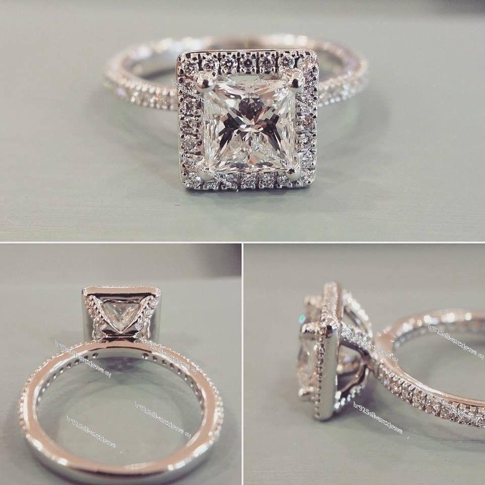 K white gold ct diamond engagementwedding ring solitaire