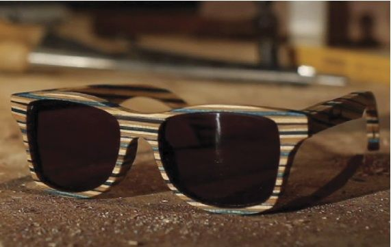 a92a98c5461 Shades made from an old skate deck - Shwood
