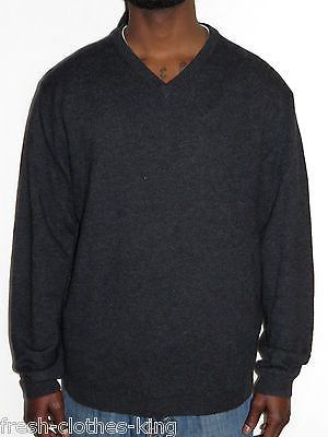 Weatherproof Vintage Cashmere Sweater New $125 Charcoal Gray V ...