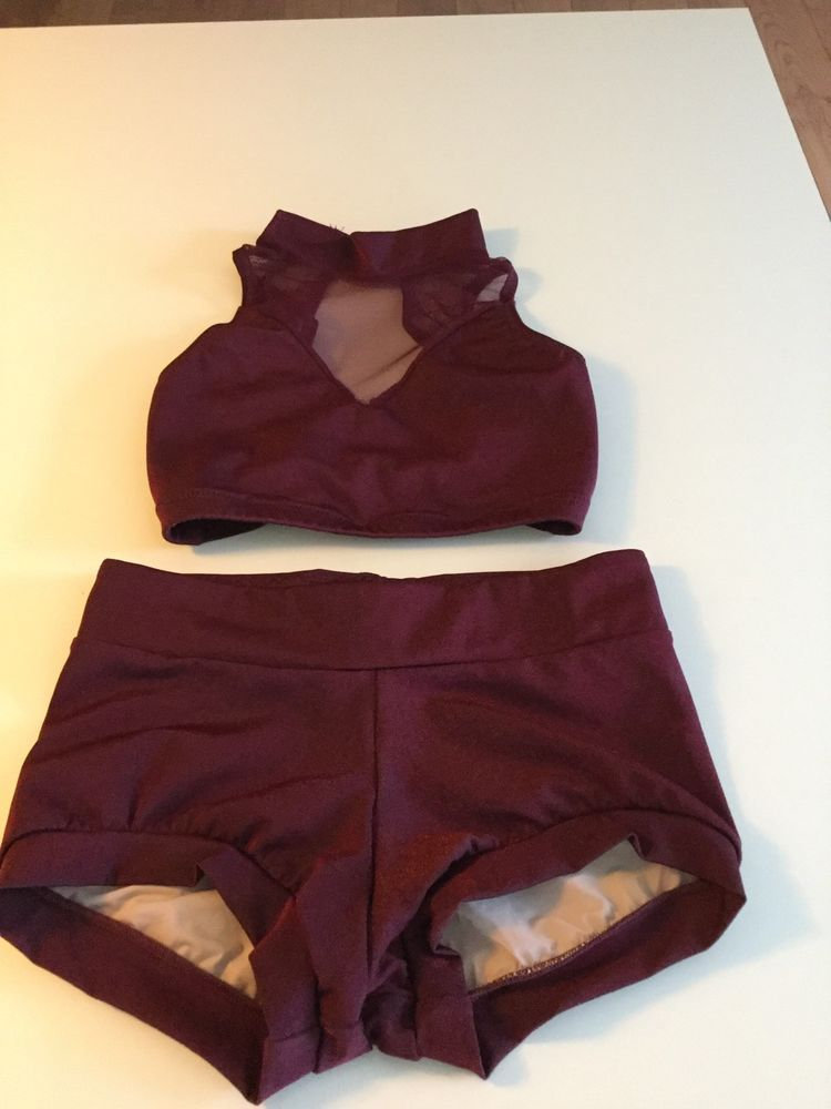Maroon Custom Made Solo Dance Costume(jazz/contemp) Never