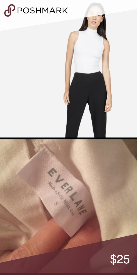 🌱SUMMER LAYER🌱 Everlane E2 Stretch mock neck Like new, form fitting, mock neck turtle neck with zipper on back. Only worn twice. Everlane Tops Tank Tops