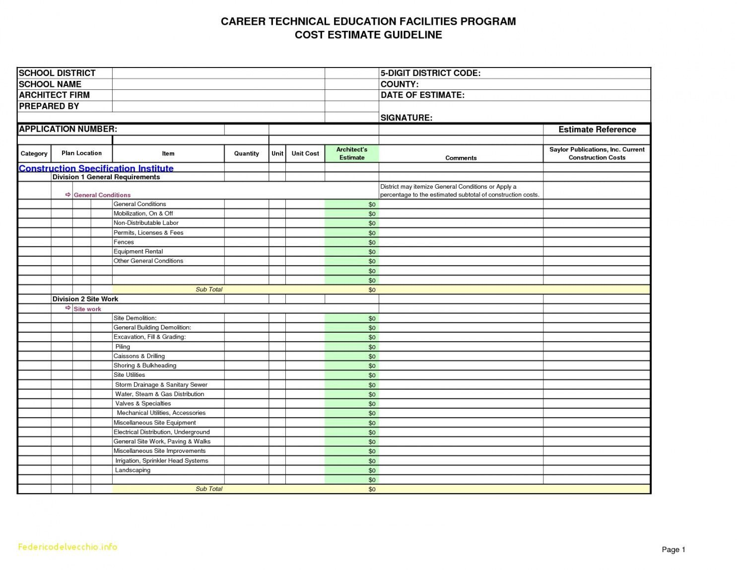 Explore Our Sample Of Hotel Construction Budget Template For Free Budget Template Estimate Template Budgeting [ 1148 x 1485 Pixel ]