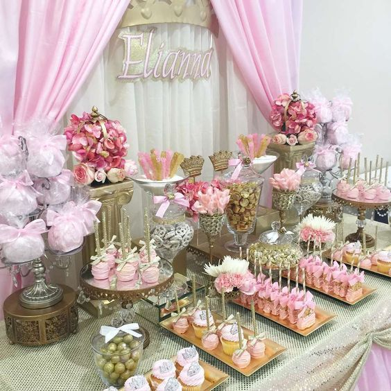 Decoracion De Mesa De Dulces Para Quince Años Buscar Con Google Baby Shower Princess Baby Shower Dessert Table Baby Shower Decorations