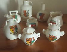 GOSS CRESTED CHINA - THE LAKE DISTRICT TOWN'S - 8 - CARTMEL, BOWNESS, GRANGE ETC