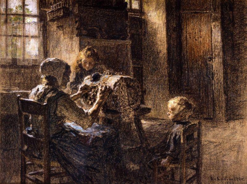De Léon Augustin LHERMITTE (français 1844 - 1925)
