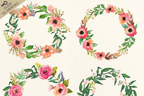 Watercolor flower DIY pack Vol.2 by Graphic Box on @creativemarket