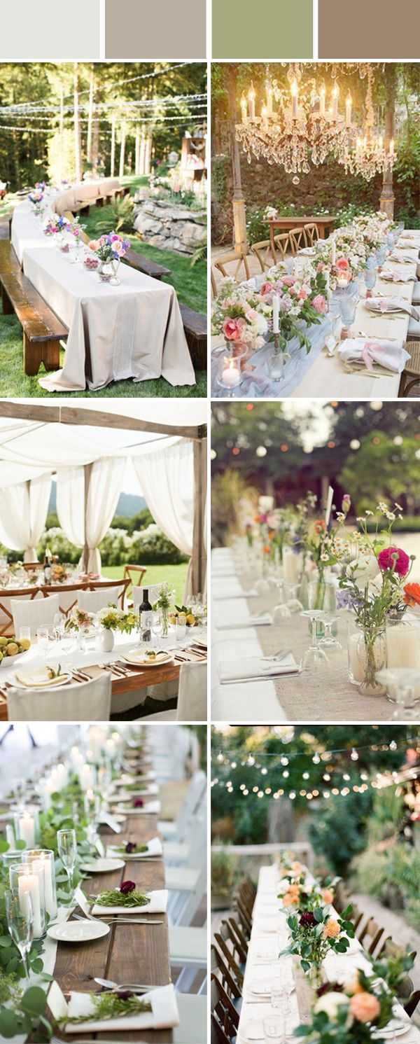 Wedding Table Setting Decoration Ideas for Reception | Outdoor ...