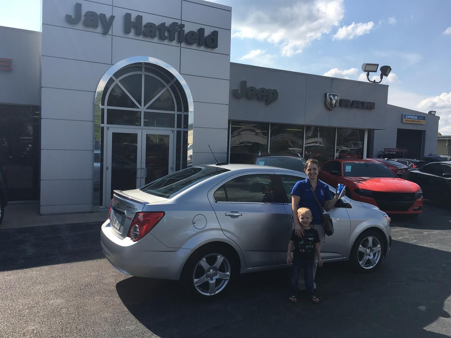 Sarah, we're so excited for all the places you'll go in your 2016 CHEVROLET SONIC!  Safe travels and best wishes on behalf of Jay Hatfield CDJR and AMANDA TIDWELL.