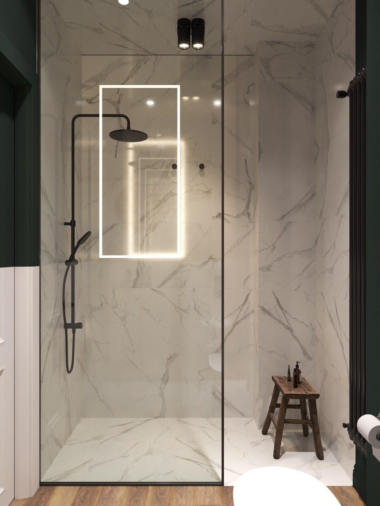 Un appartement classique chic par Cartelle Design  Salle de bains