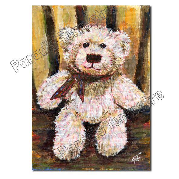 Luxury Teddy Bear Art Greeting Card