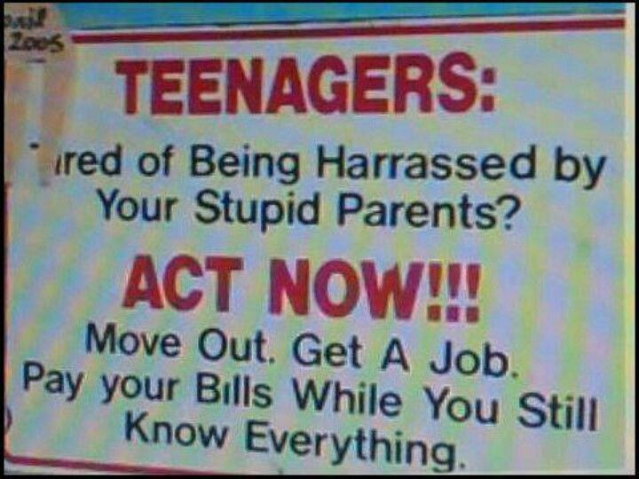 I love teenagers :-)  I sometimes miss being one, too!