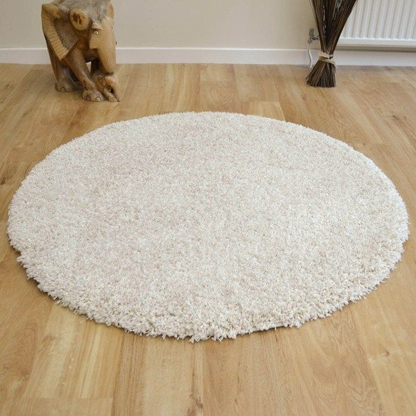 Twilight Circular Rugs 39001 6926 Chalk Shaggy Online From The Rug Er Uk