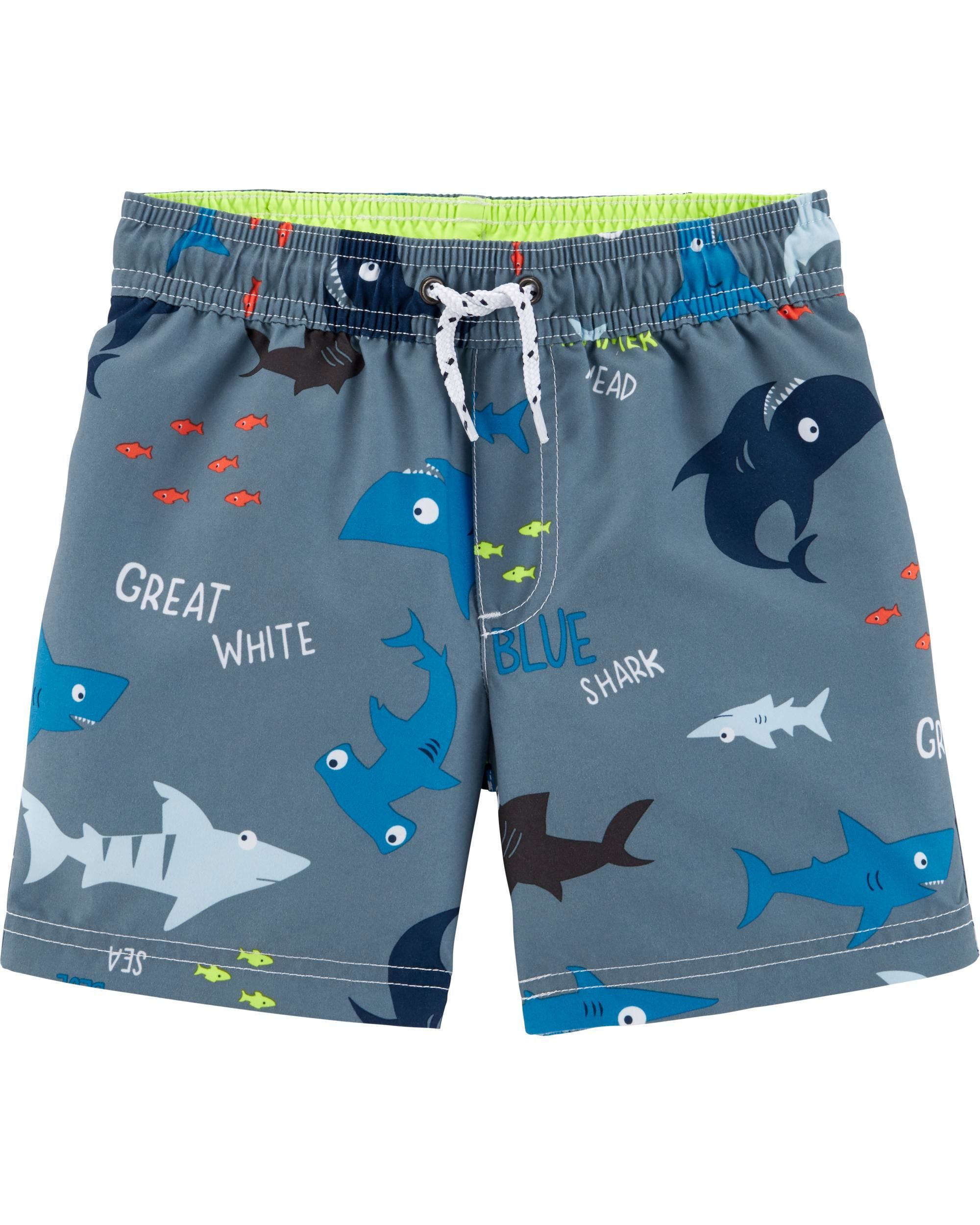 6da8a36a6f Shark Swim Trunks | SWIM | Swim trunks, Baby boy swimwear, Baby swimsuit