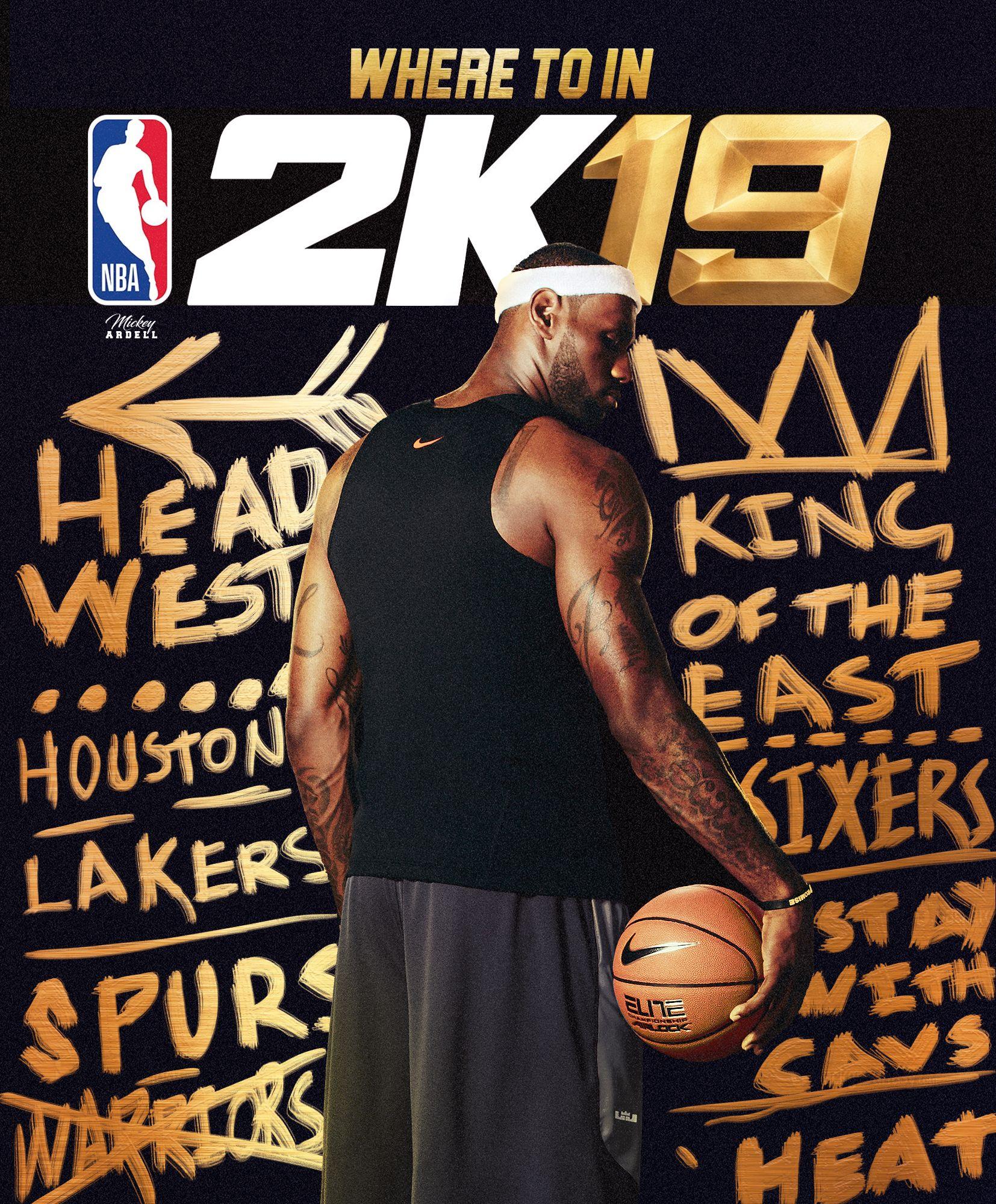 NBA2k19 fake cover. Lebron NBA Art #wmcskills | Sports Graphics | Pinterest | NBA and LeBron James