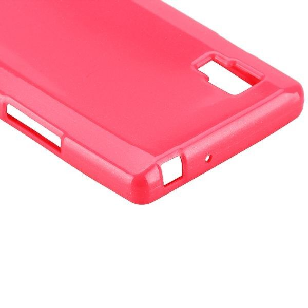 Glitter Shell (Pinkki) LG Optimus L9 Silikonisuojus