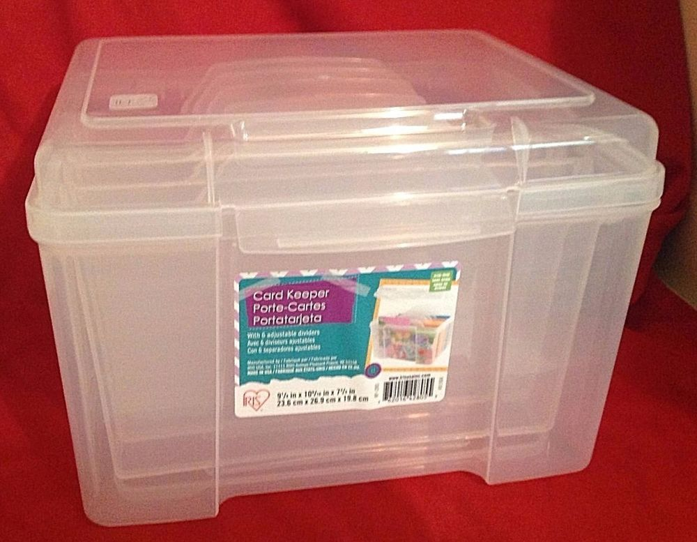Iris Greeting Card Craft Keeper Storage Box W Dividers 10 Photos