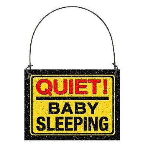 DECO Mini Sign BABY SLEEPING SIGN Door Knob Hanger Gift Wood Ornament  NEW USA
