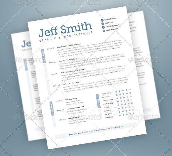 Resume templates Job junt Pinterest Template, Stylish and Ui