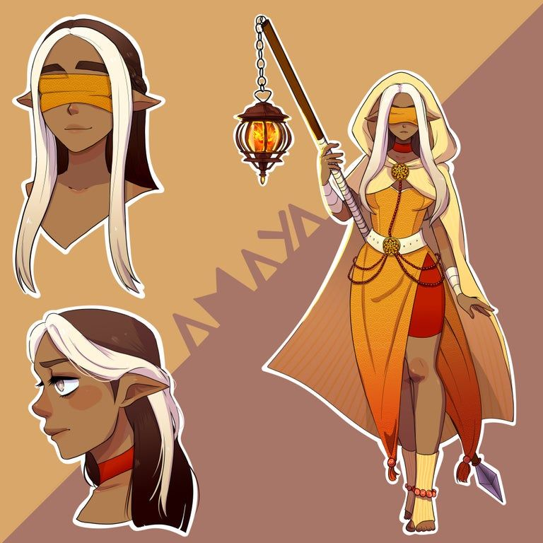 Amaya Light Domain Cleric Dndart In 2021 Fantasy Character Design Cleric Dnd Characters