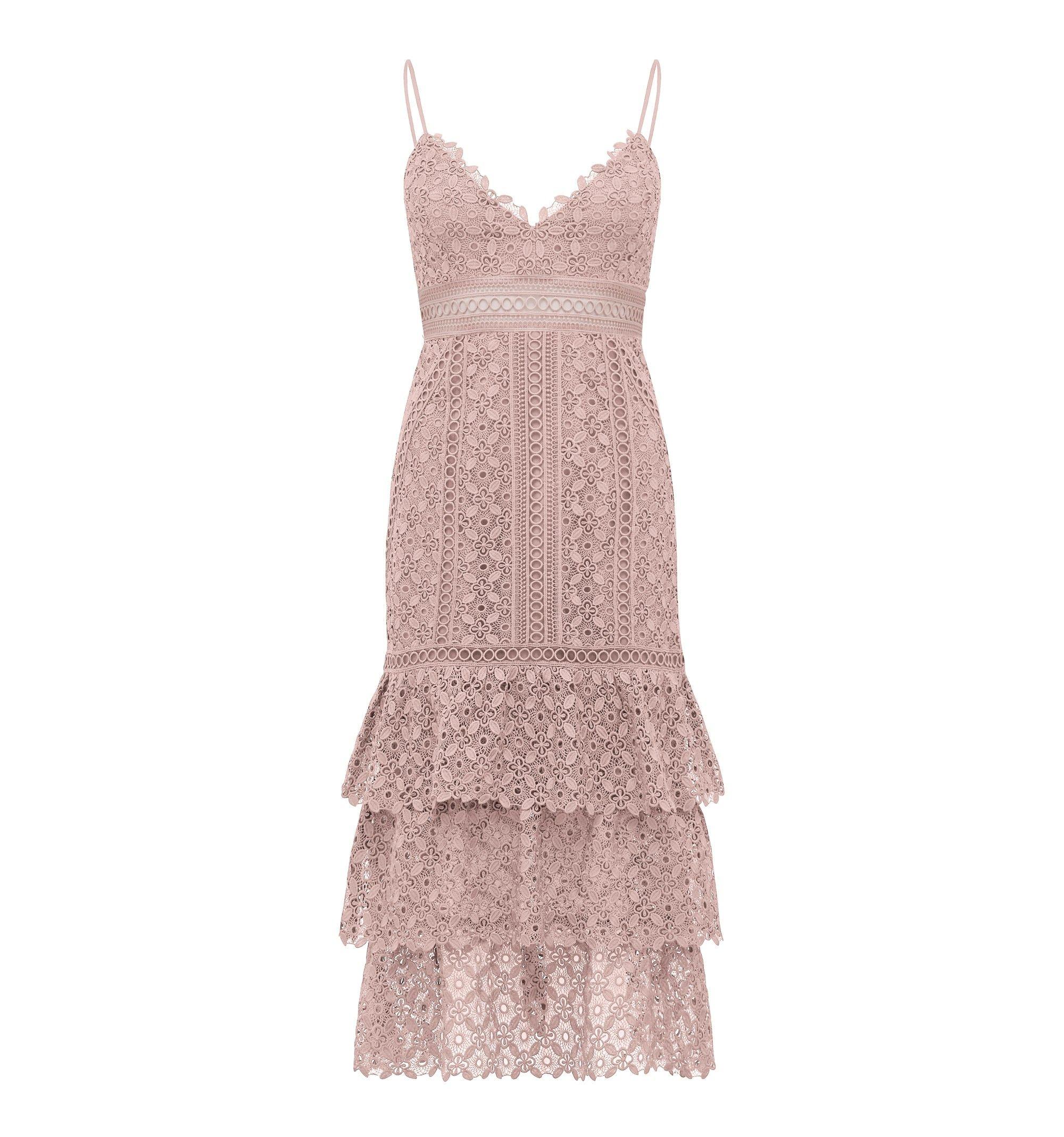 3daa706c83e6 Katie Petite Lace Tier Dress Blush - Womens Fashion