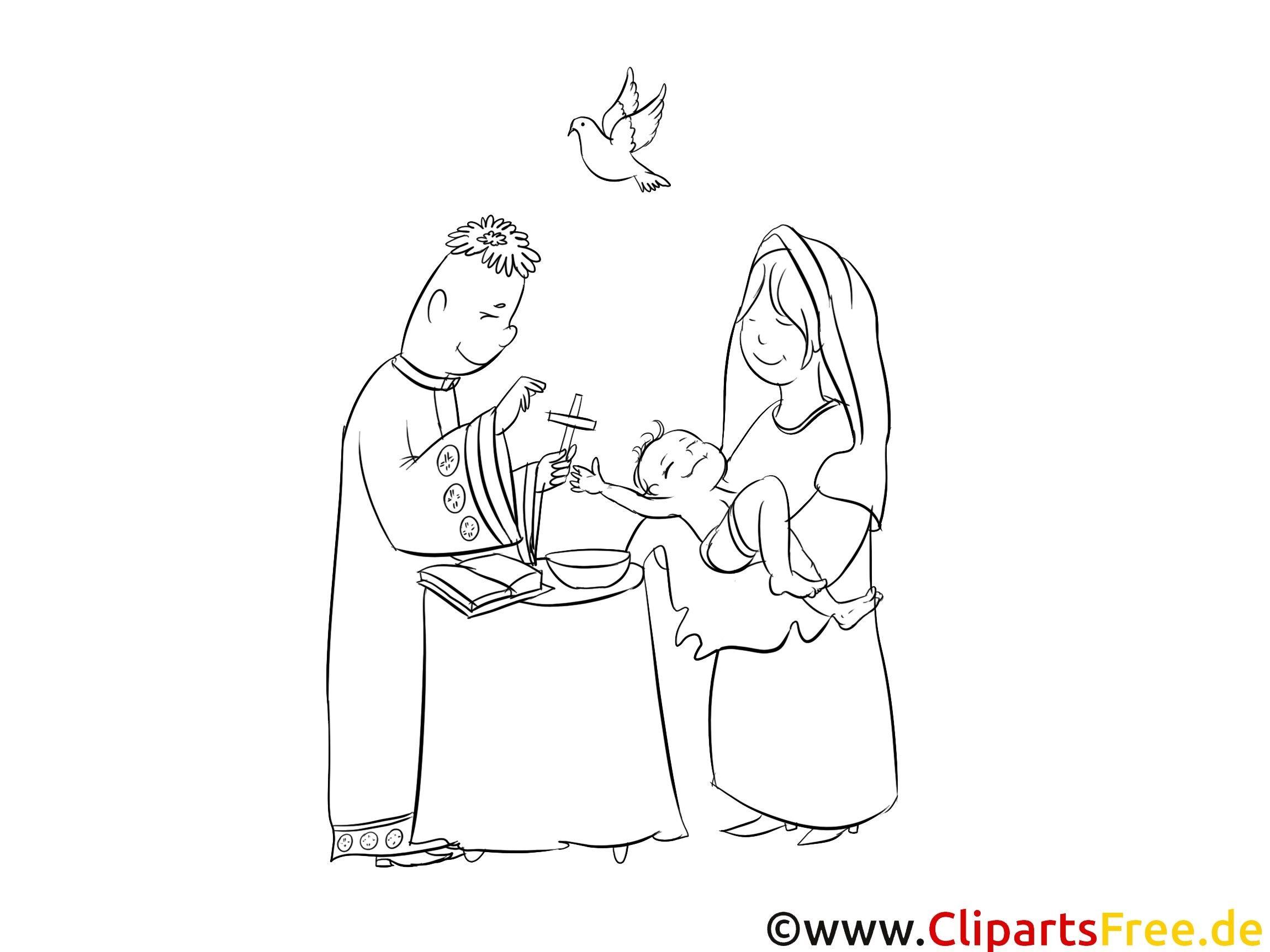 Taufe Malvorlagen