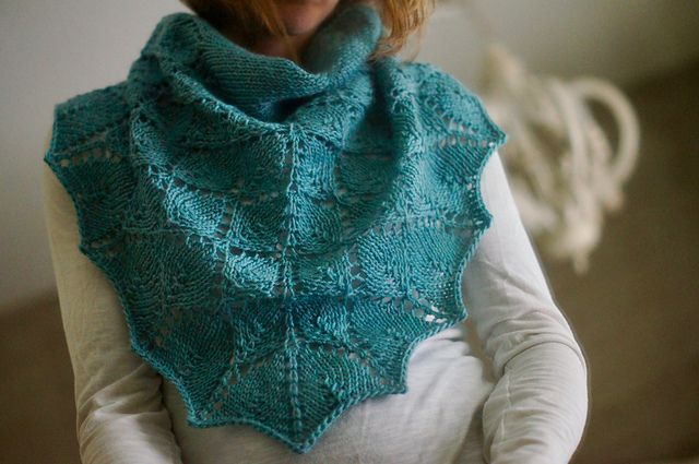Ravelry Suspended Leaves Shawl pattern by Betsy App Shawl