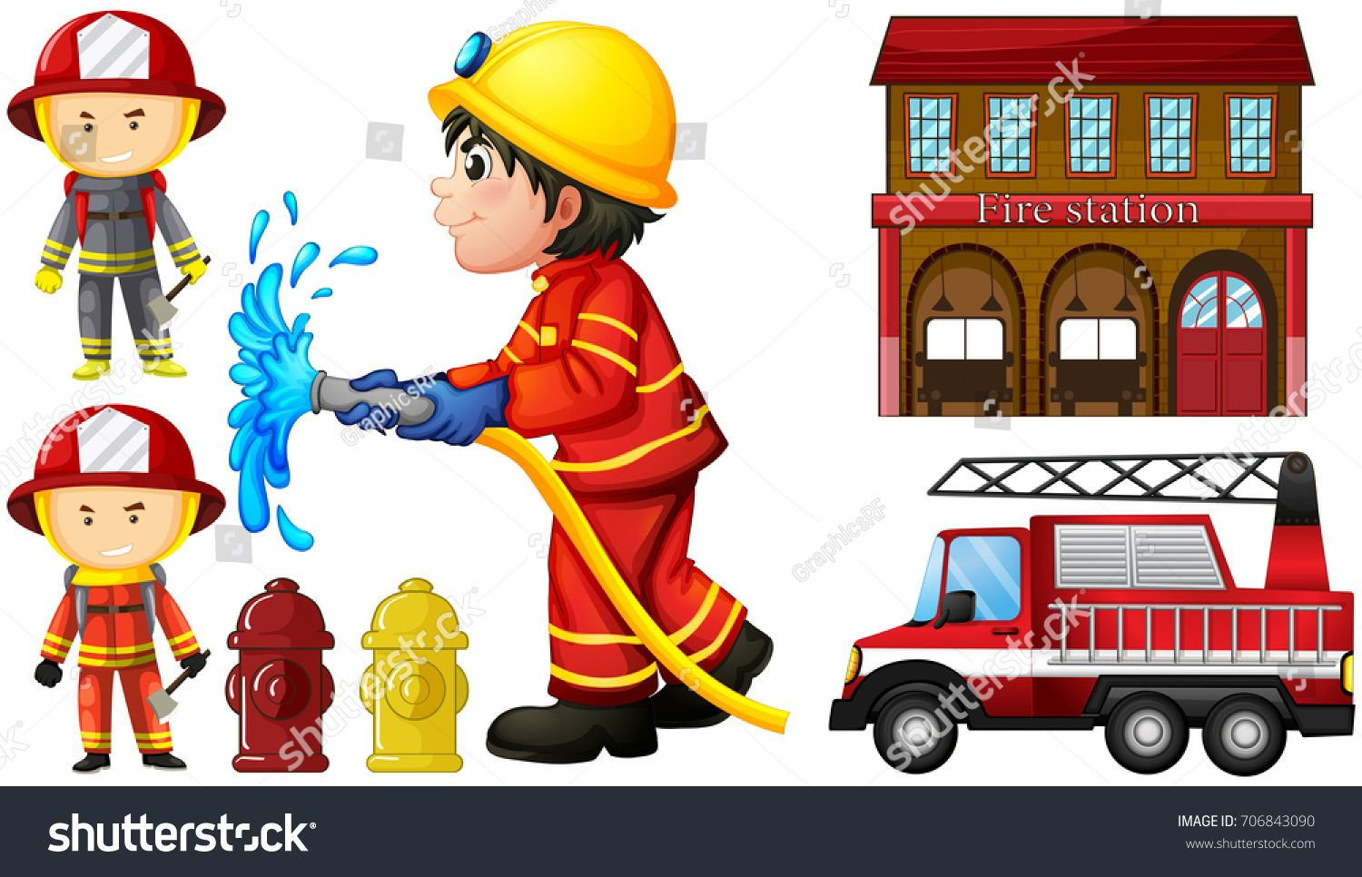 Firefighters And Fire Station Illustration Ad Sponsored Fire Firefighters Illustration Station In 2020 Fire Station Firefighter Illustration
