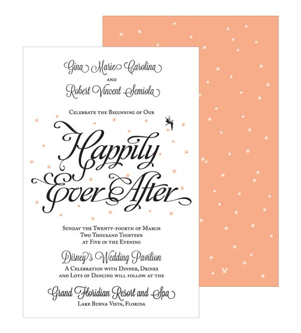 Happily Ever After Wedding Invitations By Barbara Jane Vaccaro