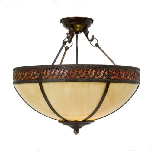 Lexington semi flush pendant broughtons of leicester ltd