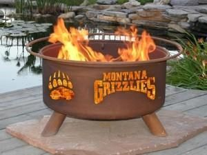 University Of Montana Portable Steel Fire Pit Grill Ebay Wood