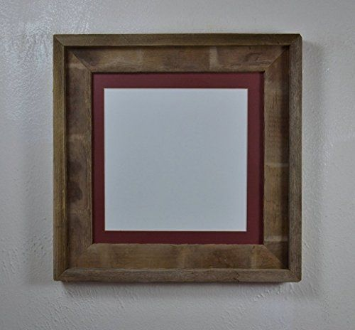 10x10 Eco Friendly Reclaimed Wood Frame With Mat for 8x8,7x7,6x6 ...