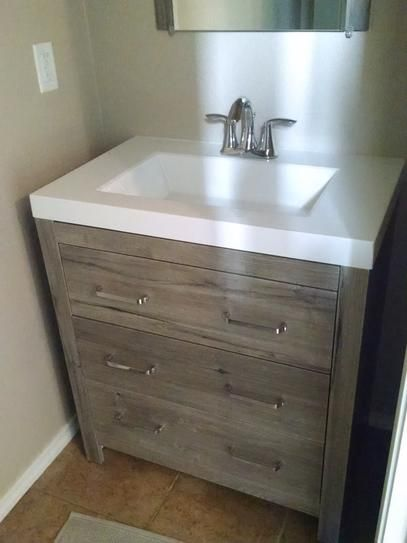 Glacier Bay Woodbrook 30 5 In W Vanity In White Washed Oak With