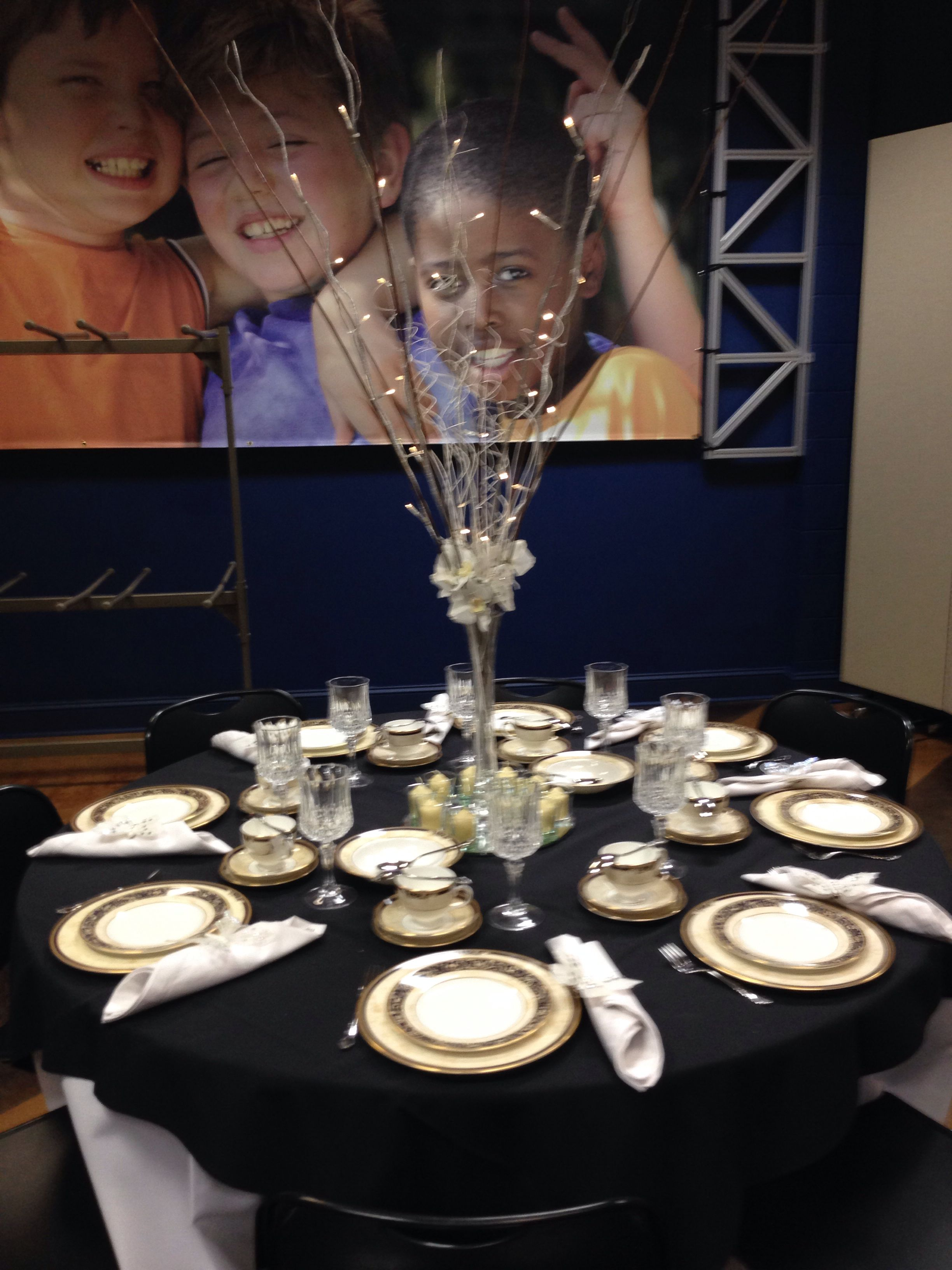 Our Table For The Ladies Christmas Luncheon In November