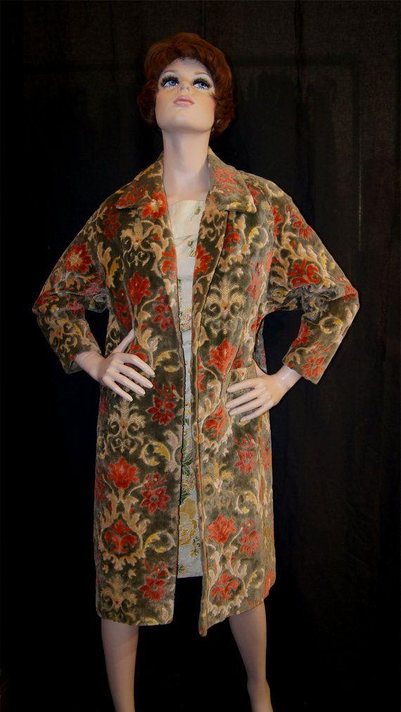 91ca91626cfe5 Vintage 60s Tapestry Carpet Coat by Norma Morgan Inc Lillian Designs ...