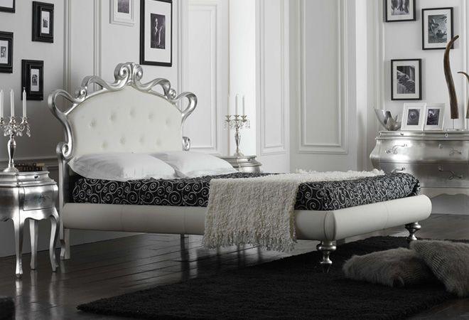 Camera da letto bianca e argento: ecco 15 idee che vi stupiranno ...