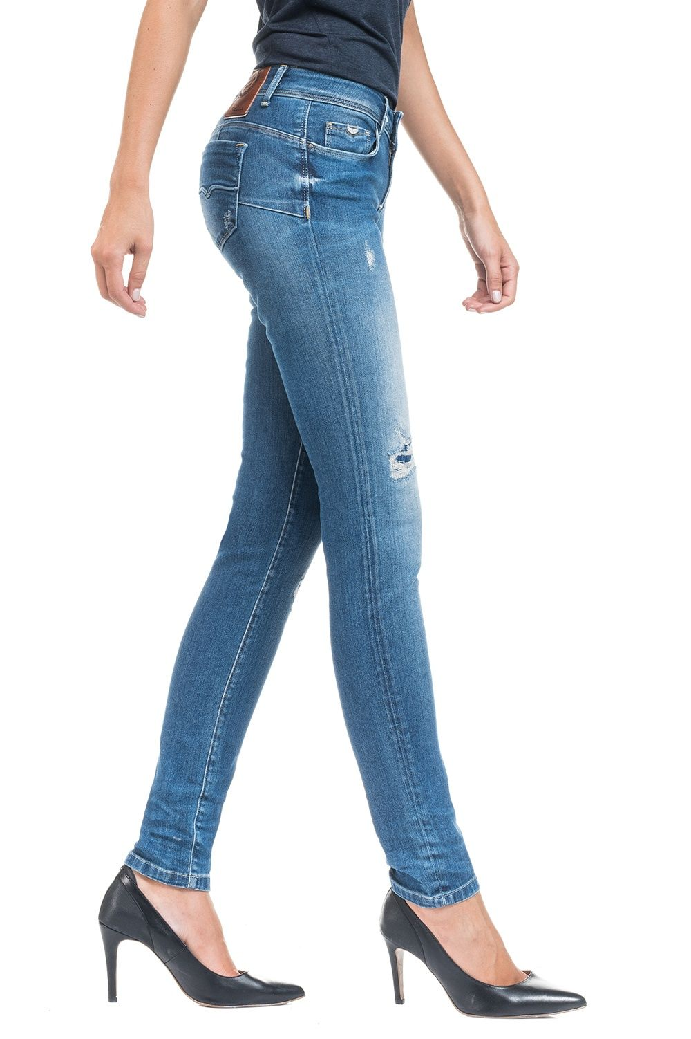 Jeans Premium Leg Pantaloni Up Slim Salsa Wash Shape WC46BxqX