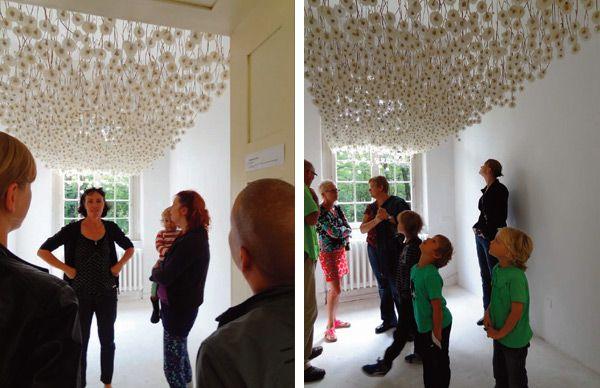 2 000 Suspended Dandelions By Regine Ramseier Art And Craft Design Corporate Art Installation Art