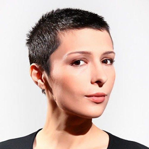 Super Short Haircuts For Round Faces Round Face In Sassy Ginger