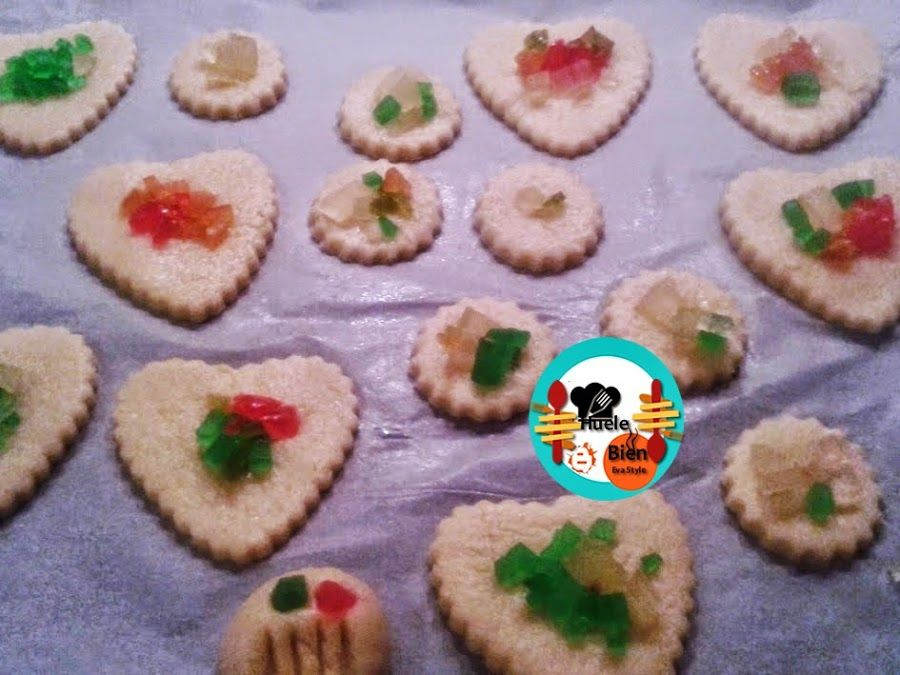 galletas vainillas con frutas confitadas