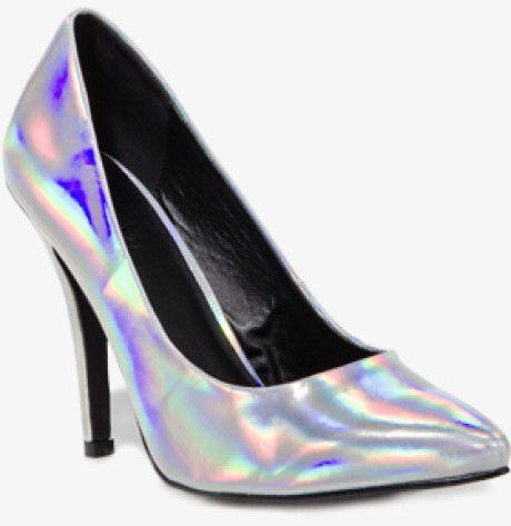 30c391c44c4 Forever 21 - Metallic Pointed Hologram Pumps